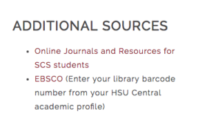 EBSCO sources